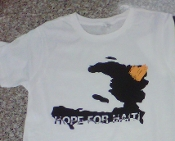 Hope For Haiti T-Shirt Mens Large White